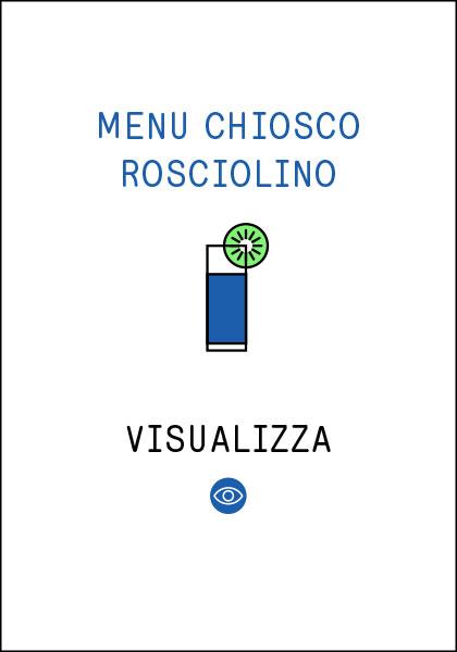 Menu Chiosco Rosciolino